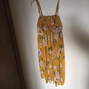 Yellow floral Flowy sundress